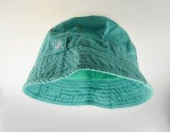 BSCI grüner erwachsener Baumwollwannen-Hut mit Stickerei Hy042635