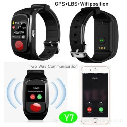 大容量バッテリ容量 Blood Pressure Monitor Y7 付きシニア GPS トラッキングブレスレット