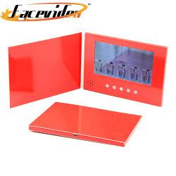 De hete VideoSpeler van het Document van de Verkoop Rode Kaart Van bedrijfs 7 LCD van de Duim van het Scherm de Elektronische van het Boek VideoAlbums van de Foto Video van de Brochure