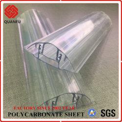 Polycarbonate Hollow Sheet용 Quanfu Multi-Color PC Snap F Profile