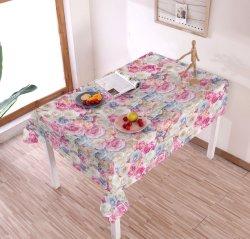 Het goedkope Tafelkleed van pvc van het Product van de Prijs Goede met de Steun van de Stof van de Polyester