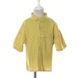 Lo Short a strisce semplice bianco giallo di estate collega le camice con un manicotto casuali del ragazzo con la casella
