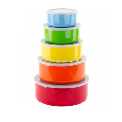 Küche-Edelstahl bunte 5 PCS-Salat-Filterglocke-Sets