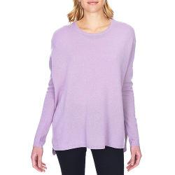 Cashmere personalizado da marca suéter tripulação com excesso de pescoço Tricô Casual Verão Suéter Mulher