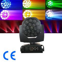 19ПК*15Вт Светодиодные Disco этапе лампы оборудования 4 в 1 перемещение головки блока цилиндров с зумом DJ света для освещения Disco