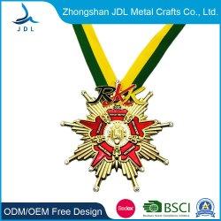 المورد الذهبي الصين مخصص رخيصة فارغة من الفولاذ المقاوم للصدأ الطباعة شعار نحت الليزر الميداليات الشرف (197)