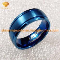 형식 보석 스테인리스 316L 파란 도금 고품질 티타늄 스테인리스 결혼 반지 SSR2026