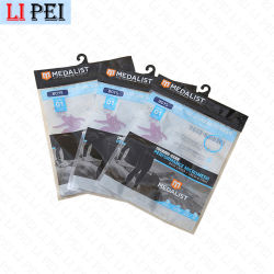 Bolsa Ziplock barato con la mano de embalaje para el acondicionamiento de los productos Reclosable colgar bolsas de plástico