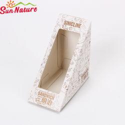 Sun Nature Triangle de petit-déjeuner de qualité alimentaire boîte à sandwich en papier