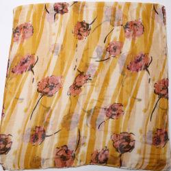 Scialle verticale del foulard del poliestere stampato Rosa