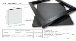8 x 8 Zoll 20mm Papier Schaumkern für Fotoklebung und UV Drucken