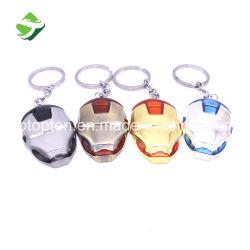 Clé de promotion de l'anneau de métal Iron Man masque l'anneau de chaîne de clé du trousseau