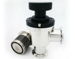 Alta Qualidade ISO Satniary Manual Pneumática Automática do Ângulo de vácuo da tampa das válvulas do Defletor