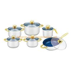Новые поступления в форме яиц 5 шагов нижней части 12ПК Посуда из нержавеющей стали с Non-Stick Frypan