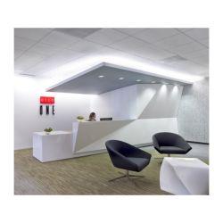 La parte superior de acrílico Venta caliente Mostrador de Recepción de tamaño estándar moderno blanco brillo LED blanco brillante recepción Corian