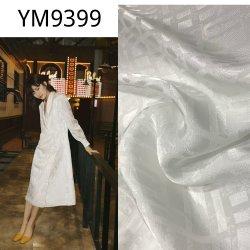 Seta bianca del jacquard Ym9399 come il tessuto di rayon viscoso per il vestito