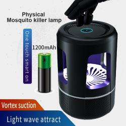 Insectos electrónicos asesino de mosquitos de la trampa del ventilador mosquitos Pest Repeller LED UV de ahorro de energía con la batería