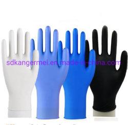 La seguridad Guantes de nitrilo Guantes de examen de los dedos con textura de goma azul guantes desechables Guantes Guante sin látex sin polvo adecuados para la Alimentación 100PCS industriales