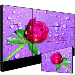 فيديو عالي الجودة من نوع LCD مقاس 55 بوصة حائط فيديو مثير مقاس 3.5 مم كامل شاشة حائط لإعلانات LCD داخلية عالية الدقة