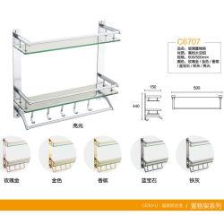 Высокое качество принадлежности в ванной комнате стекло двойной полкой (C6707)