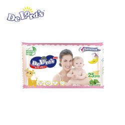 L'usine OEM de gros de nontissés Baby Care nettoyage lingette humide