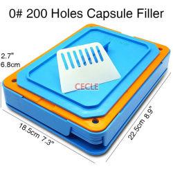 200 orifícios de enchimento da cápsula de tamanho 0 Máquina de Enchimento da cápsula Grau Alimentício Ferramenta da Placa