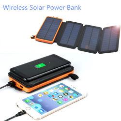 Solar de carga inalámbrica cargador USB batería Teléfono móvil plegable Bolsa de Banco de potencia