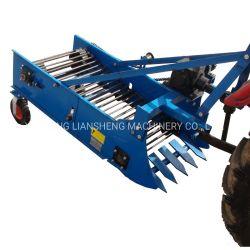 De enige Maaimachine van de Aardappel van de Rij voor Kleine Landbouwbedrijven rijdt Machines van de Radijs van de Yam van de Wortel van de Bataat van de Tractor de Witte