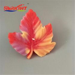Новый стиль Плавающие свечи с листьями квадратных