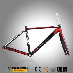 L'aluminium Al7005 Professionnel Vélos de Route le châssis et la fourche carbone T800
