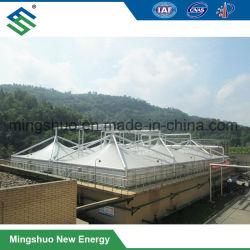 Estructura de acero de sellado de la planta de tratamiento de aguas residuales