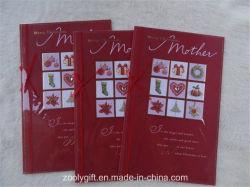 Folha de ouro Hand-Made Cartão de felicitações para o Dia da Mãe