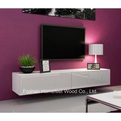 حامل تلفزيون أبيض للترفيه شديد اللمعان بتصميم أوروبي (TVS19)
