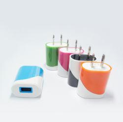 二重カラーUs/EUプラグUSBのiPhoneの携帯電話のためのホーム壁旅行充電器