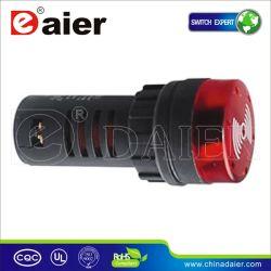 A luz indicadora do LED 22mm 220V sinal sonoro do alarme (AD16-22SM)