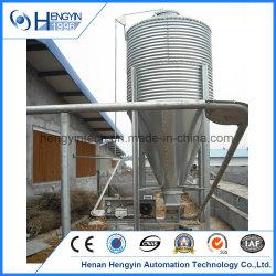 Grande capacité de poulet silo d'alimentation galvanisé à chaud