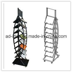 حامل شاشة عرض عصري مخصص باللون الأسود/برج عرض الكوارتز للتجانب معدات المعارض/الإعلانات