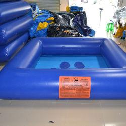 Синий надувной плавательный бассейн с водой для водного парка