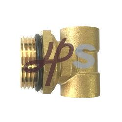 3 via conexão de latão para as peças do coletor do sistema de aquecimento de piso