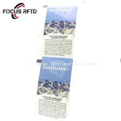 O UHF Hf Ultralight Papel Estacionamento RFID Cartão bilhete de papel de Smart Card