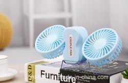 350 grados de rotación de dos en un Mini Ventilador de la pareja del ventilador ventilador de sobremesa Asidero con batería recargable de tres velocidades de viento y el teléfono móvil de carga