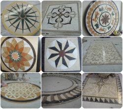 Jato de água de azulejos de mármore medalhão