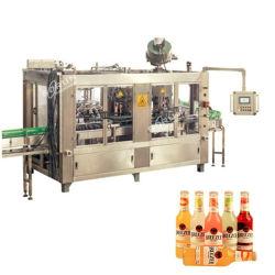 Entièrement automatique 500ml Le flacon en verre Bouchon de la Couronne 3 en 1 bière faisant l'embouteillage de la machine de remplissage