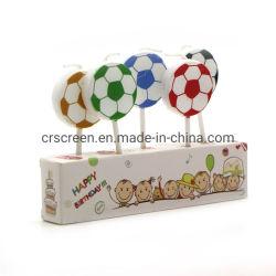 Kerze-Fußball-Form-Partei-Kerze des Kuchen-5PCS dekorative für Kinder