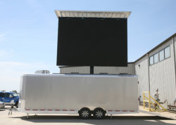 SMD3535 IP65 트레일러 움직이는 광고문 옥외 LED 스크린