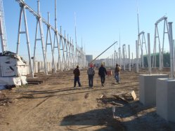 Torre de acero Subestación estructura para la transmisión de energía eléctrica