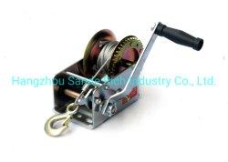 2500lbs/1135kg Manuel Heavy Duty treuil manuel, de la manivelle pignon de sangle de treuil avec 4,5 mm*10m, 7*19 Câble d'acier pour ATV Voitures remorque de bateau