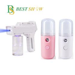 Косметический уход за кожей Mini удобный для опрыскивания 3 в 1 водяного вентилятора с тонкой лица спирта увлажняющий и пистолет Hydrating аккумулятор USB Nano туман опрыскиватель