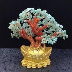 Albero libero naturale dei bonsai della pietra preziosa del chip di Dongling per Feng Shui