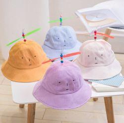 1-3 Alters-scherzt Unisexbaby-Wannen-Schutzkappen-Propeller-Hut-Kleinkind-Baby Jungen-Mädchen-Wannen-Hütesun-Strand-Schutzkappen-Wannen-Hut